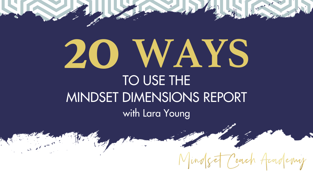 20 Ways to Use the Mindset Dimensions Report